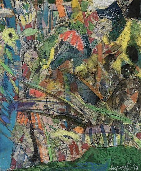 LOUIS DELSARTE (1944 -   ) In the Garden.