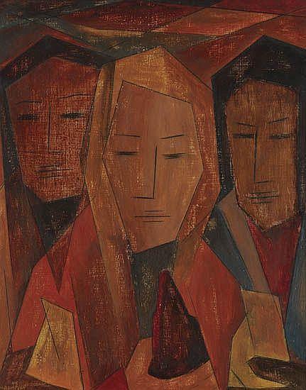 MERTON D. SIMPSON (1928 -   ) Untitled (Three Women).
