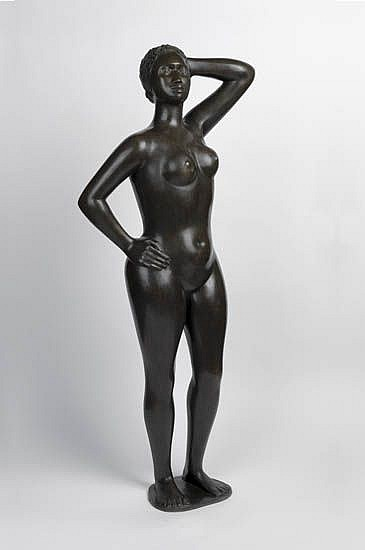 ELIZABETH CATLETT (1915 -     ) Untitled (Standing African-American Woman).