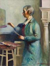 GUY PÈNE DU BOIS A Woman Painting (Elizabeth Jones).