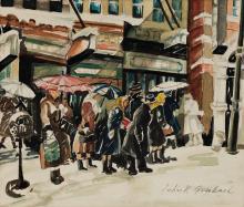 JOHN GRABACH Waiting for the Bus, New York.
