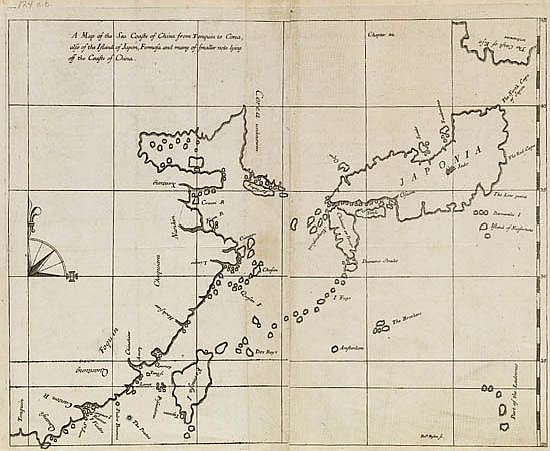 HAMILTON, ALEXANDER; Merchant East India Company. A Map of the Sea Coasts of China from Tonquin to Corea, also of the Islands of Japon.