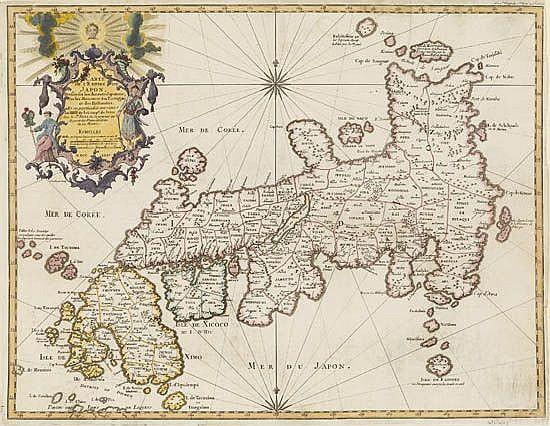 BELLIN, JACQUES NICOLAS. Carte de l'Empire du Japon, Dressée sur les Autours Japonois.