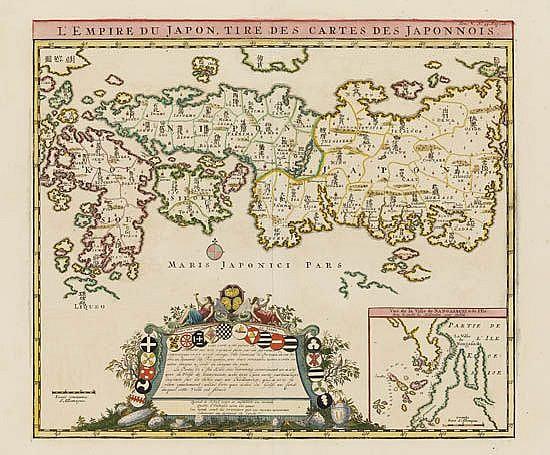 CHATELAIN, HENRI. L'Empire du Japon, tiré des Cartes des Japonnois.