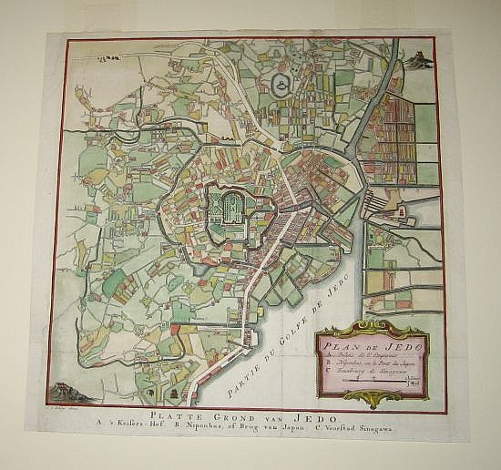 BELLIN, JACQUES NICOLAS. Plan de Jedo / Platte Grond van Jedo.