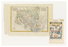 (ASIA). Group of two small scale engraved maps of Asia.