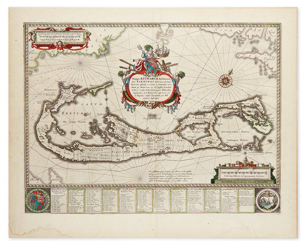 BLAEU, WILLEM. Mappa Aestivarum Insularum, alias Barmudas.