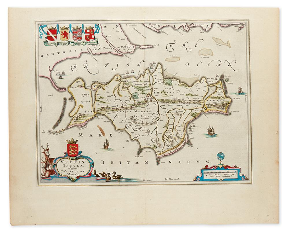 BLAEU, JOHANNES. Vectis Insula Anglice / The Isle of Wight.