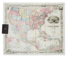 COLTON, JOSEPH HUTCHINS. Map of the United States of America, the British Provinces, Mexico, the West Indies, and Central America,