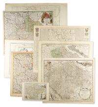 (CZECH REPUBLIC.) Group of 10 engraved maps of Bohemia.