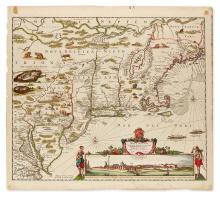 DANCKERTS, JUSTUS. Novi Belgii Novae Que Angliae Nec Non Pennsylvaniae et Partis Virginiae Tabula.