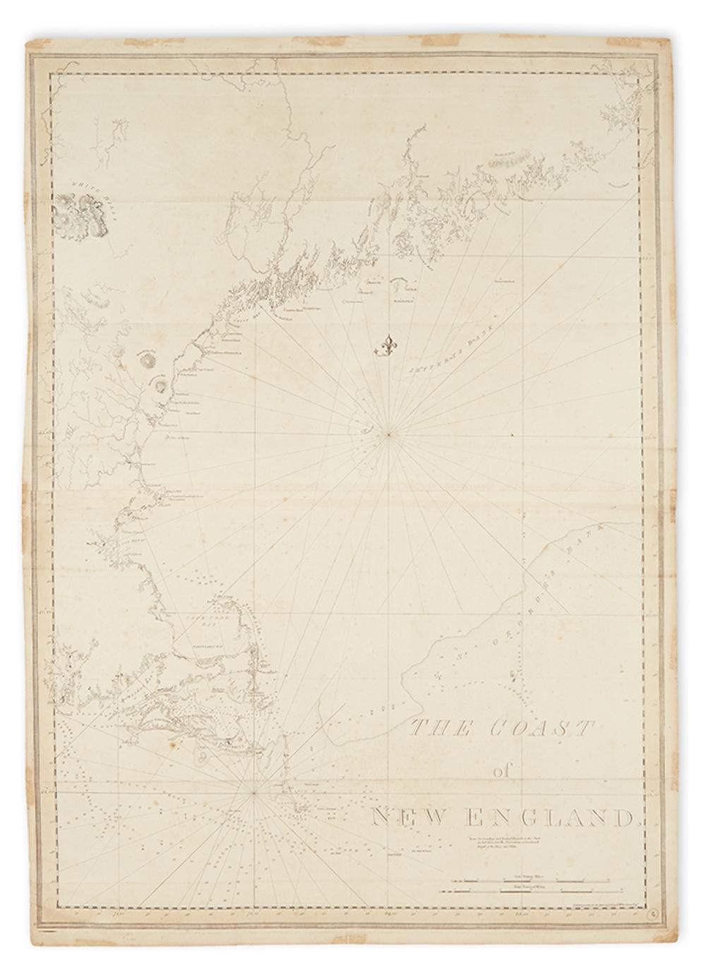 DES BARRES, JOSEPH FREDERICK WALLET. The Coast of New England.