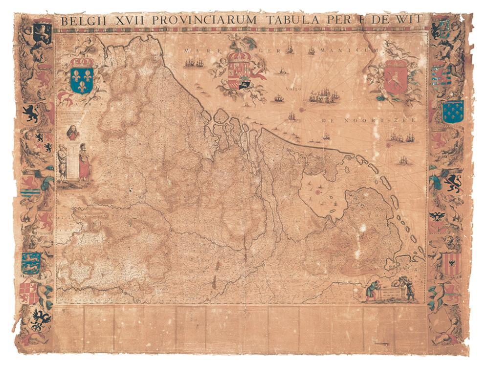 DE WIT, FREDERICK. Belgii XVII Provinciarum Tabula Per F. De Wit.