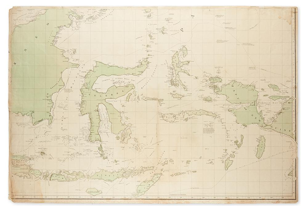 ARROWSMITH, AARON. [Chart of the East India Islands.]  Southeastern Quadrant Only.