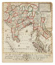 BLOME, RICHARD. A General Mapp of the East Indies Comprehending the Estats or Kingdoms of the Great Mogol...