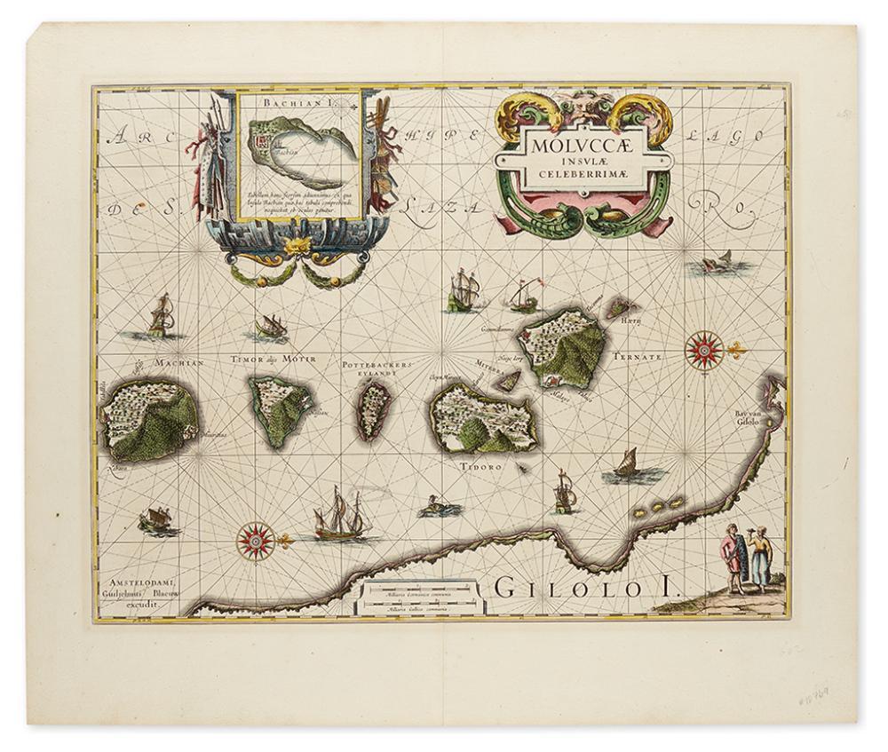 BLAEU, WILLEM JANSZOON. Moluccae Insulae Celeberrimae.