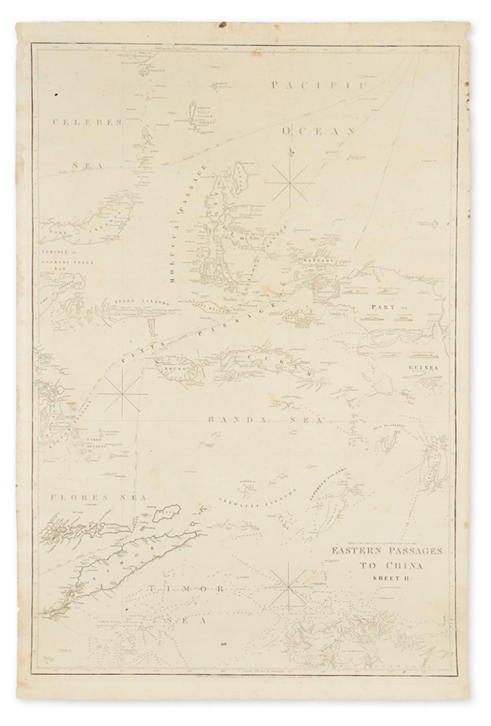 HORSBURGH, JAMES. Eastern Passages to China. Sheet II.