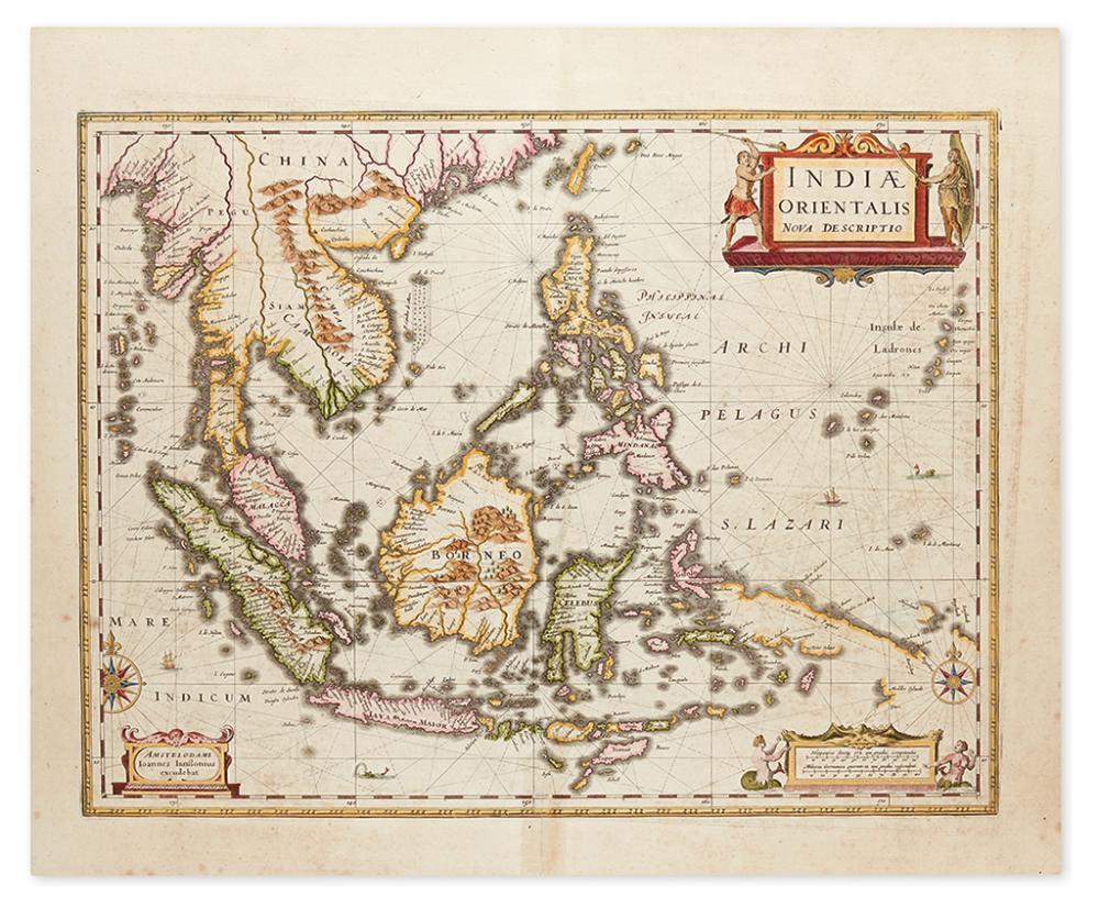 JANSSONIUS, JOHANNES. Indiae Orientalis Nova Descriptio.