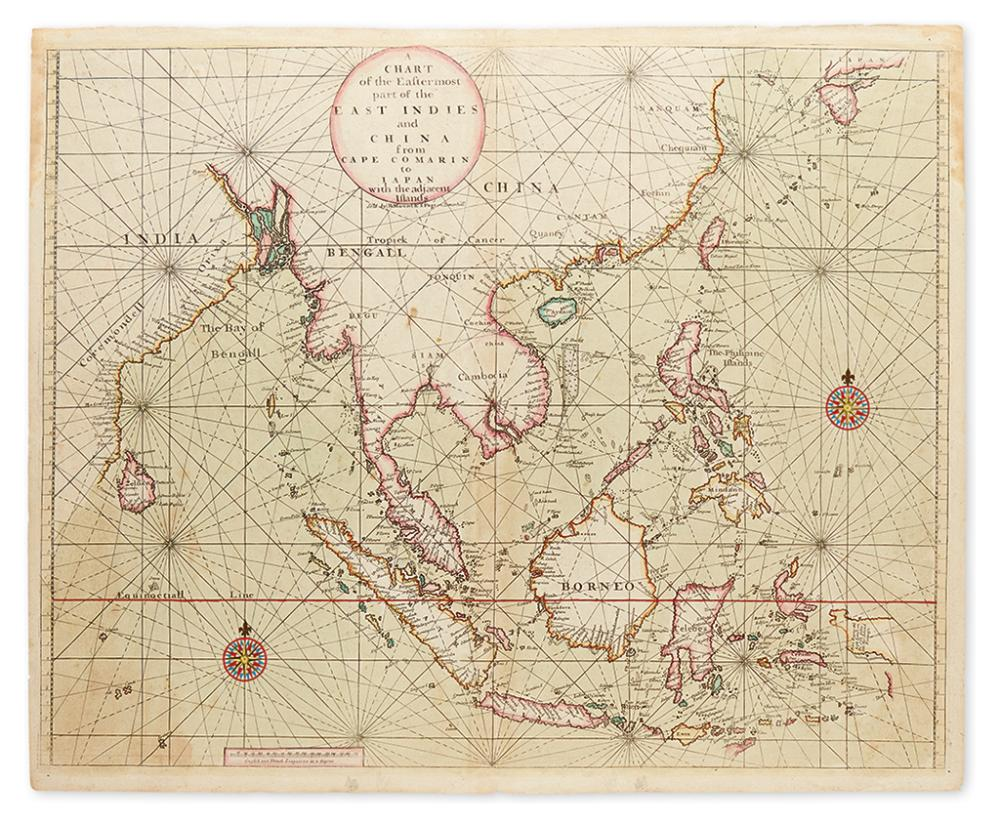 MOUNT, RICHARD; and PAGE, THOMAS. A Chart of the Eastermost Part of the East Indies and China