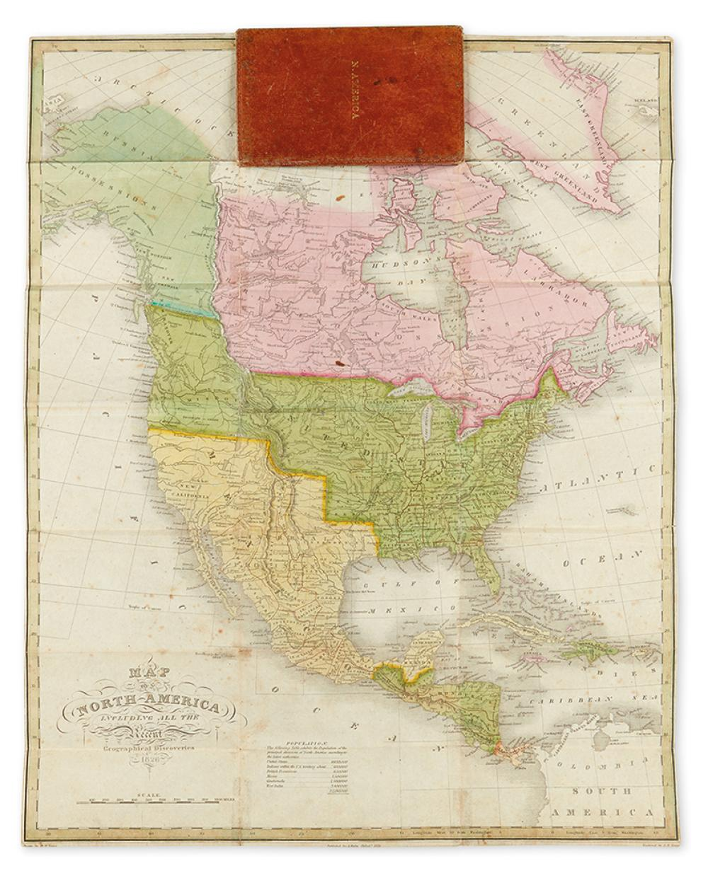 FINLEY, ANTHONY. Map of North America Including all the Recent Geographical Discoveries.