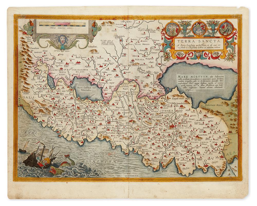 (HOLY LAND.) Ortelius, Abraham. Terra Sancta.