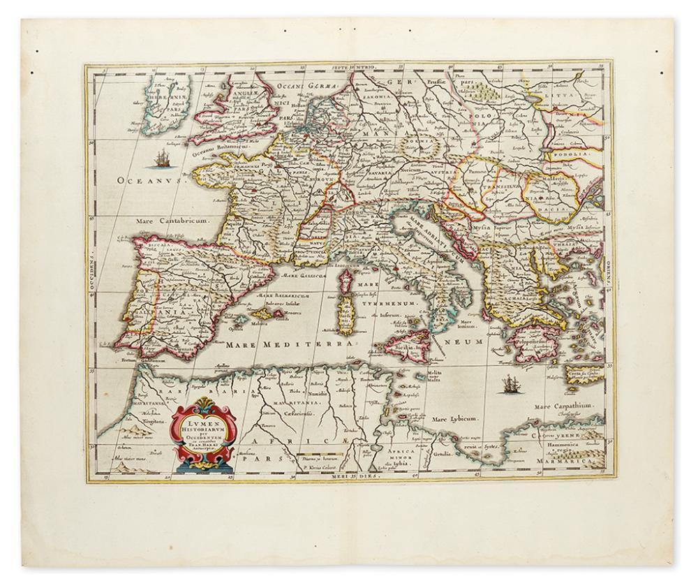 JANSSONIUS, JOHANNES. Lumen Historiarum per Occidentem ex conatibus Fran. Haraei Antuerpiae.