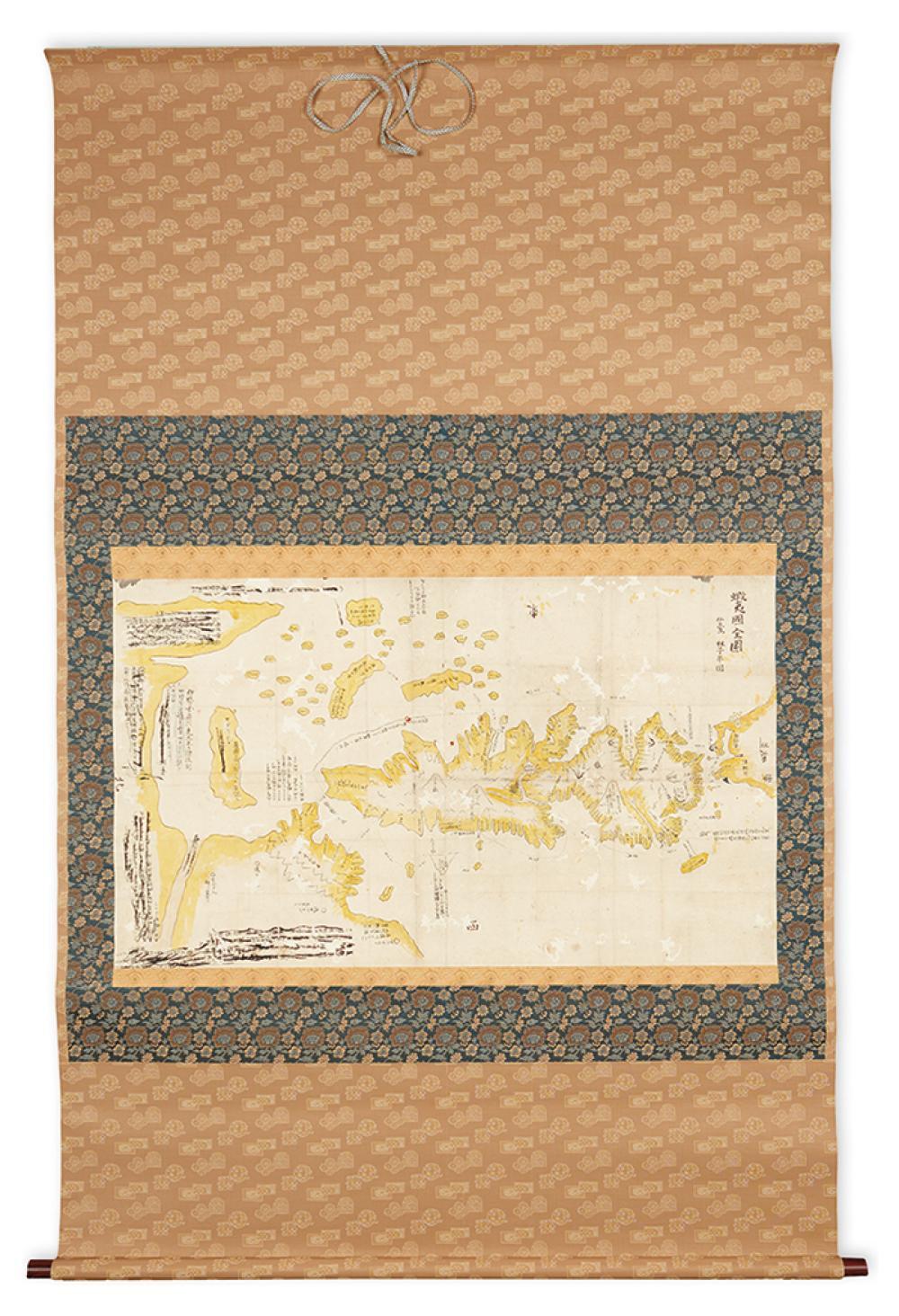 (JAPAN.) Hayashi Shihei. Ezo No Kuni Zenzu (Map of the Ezo Region).