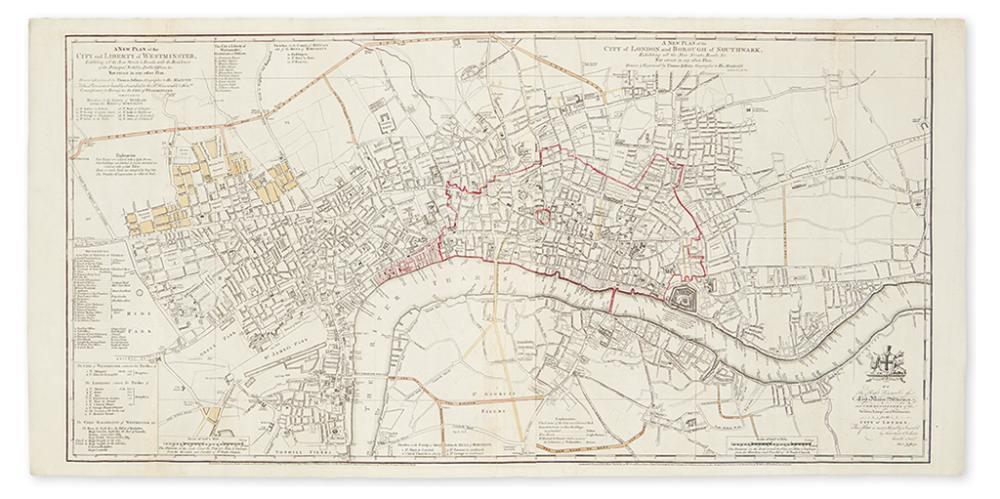 (LONDON.) Jefferys, Thomas. A New Plan of the City and Liberty of Westminster / A New Plan of the City of London