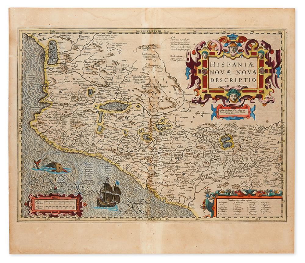 MERCATOR, GERARDUS. Hispaniae Novae Nova Descriptio.