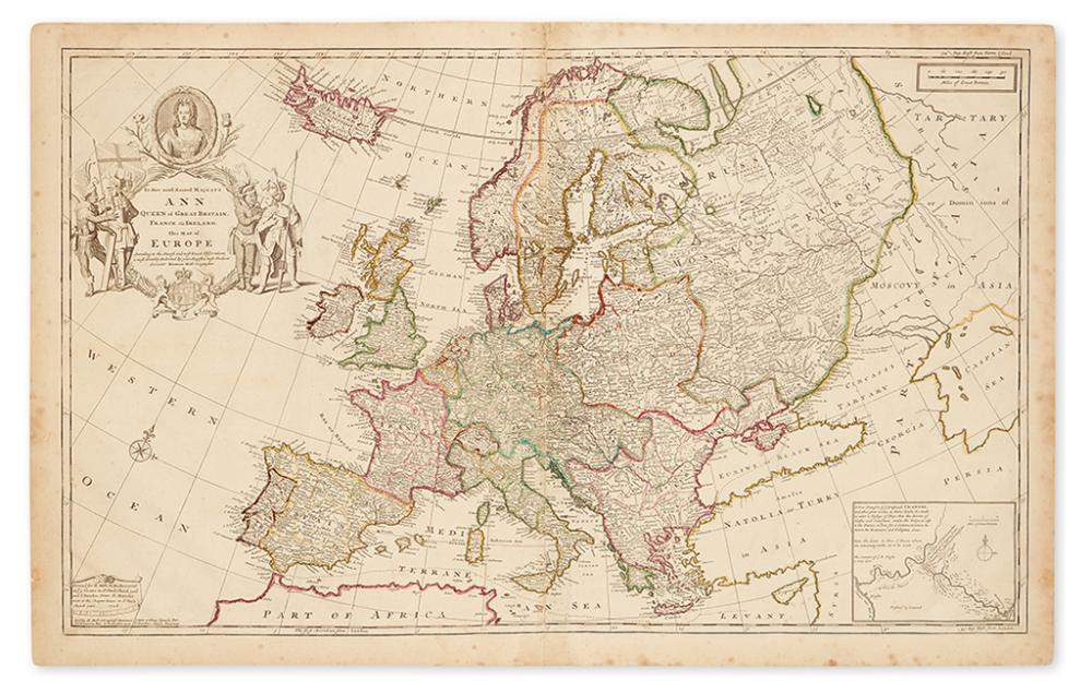 MOLL, HERMAN. [Europe.] To Her Most Sacred Majesty Ann Queen of Great Britain, France and Ireland, This Map of Europe