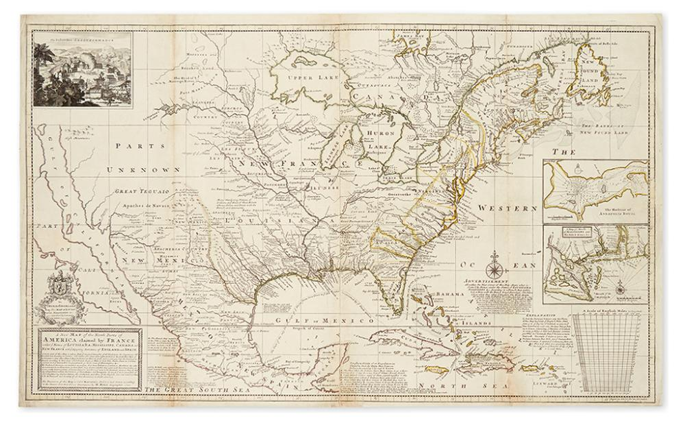 MOLL, HERMAN. A New Map of the North Parts of America claimed by France