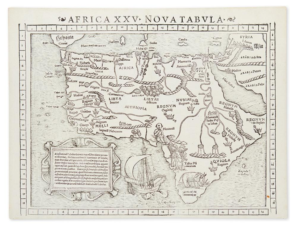 MÜNSTER, SEBASTIAN. Africa XXV Nova Tabula.