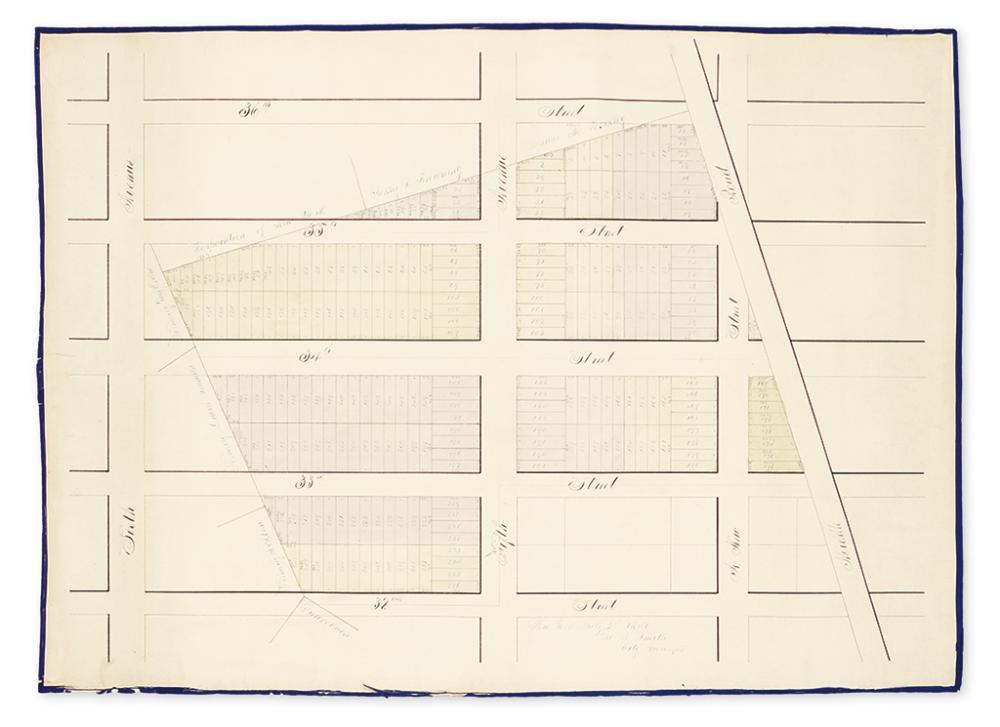 (NEW YORK CITY.) [City Survey Manuscript Map.]