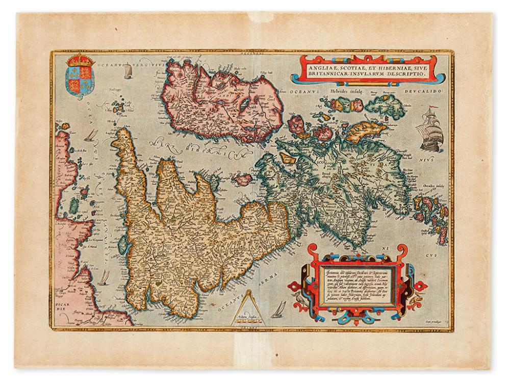 ORTELIUS, ABRAHAM. Angliae, Scotiae, et Hiberniae, Sive Britannicar : Insularum Descriptio.