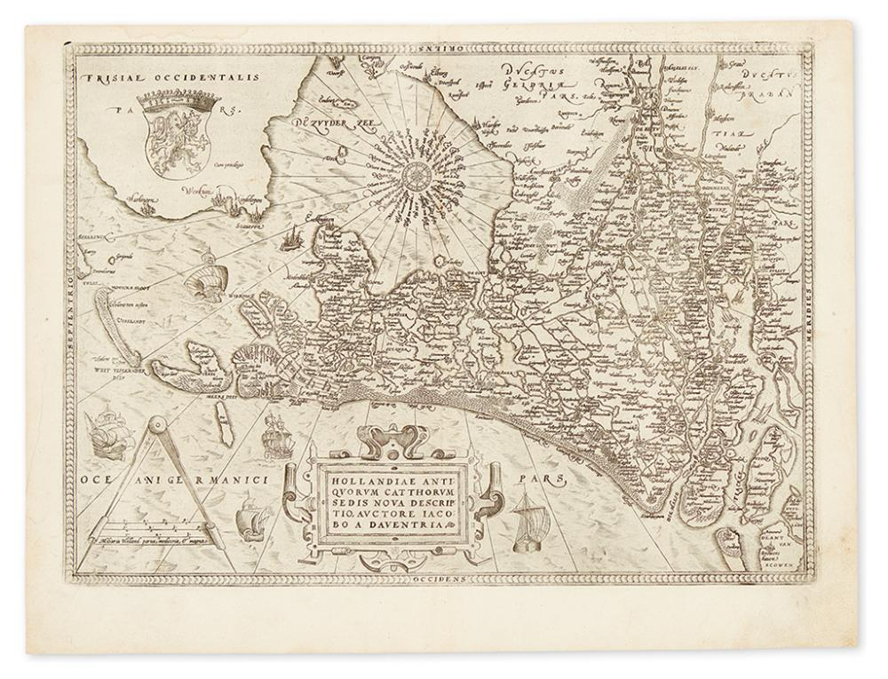 ORTELIUS, ABRAHAM. Hollandiae Antiquorum Cathorum Sedis Nova Descriptio.