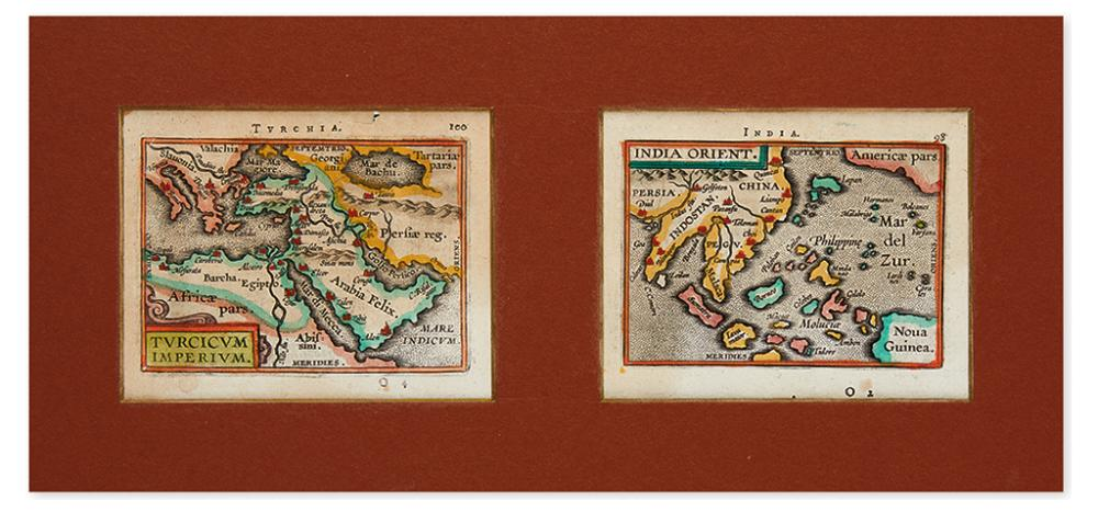ORTELIUS, ABRAHAM; and VRIENTS, GIOVANNI BATTISTA. Turcicum Imperium; and India Orient.