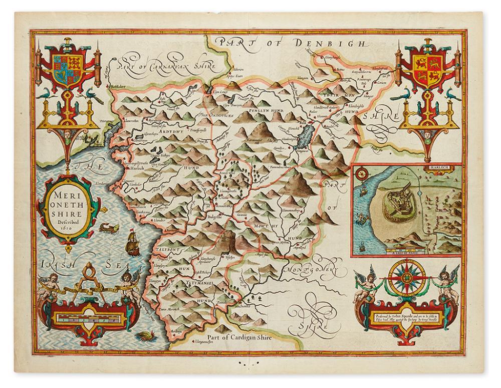 SPEED, JOHN. Merionethshire Described 1610.