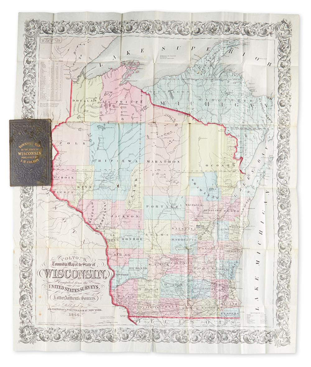 (WISCONSIN.) Colton, George W. Colton''s Township Map of the State of Wisconsin,