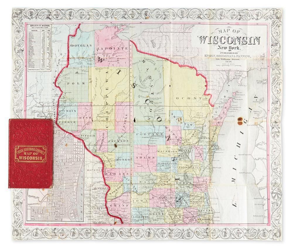 (WISCONSIN.) Ensign, Bridgman & Fanning. Map of Wisconsin.