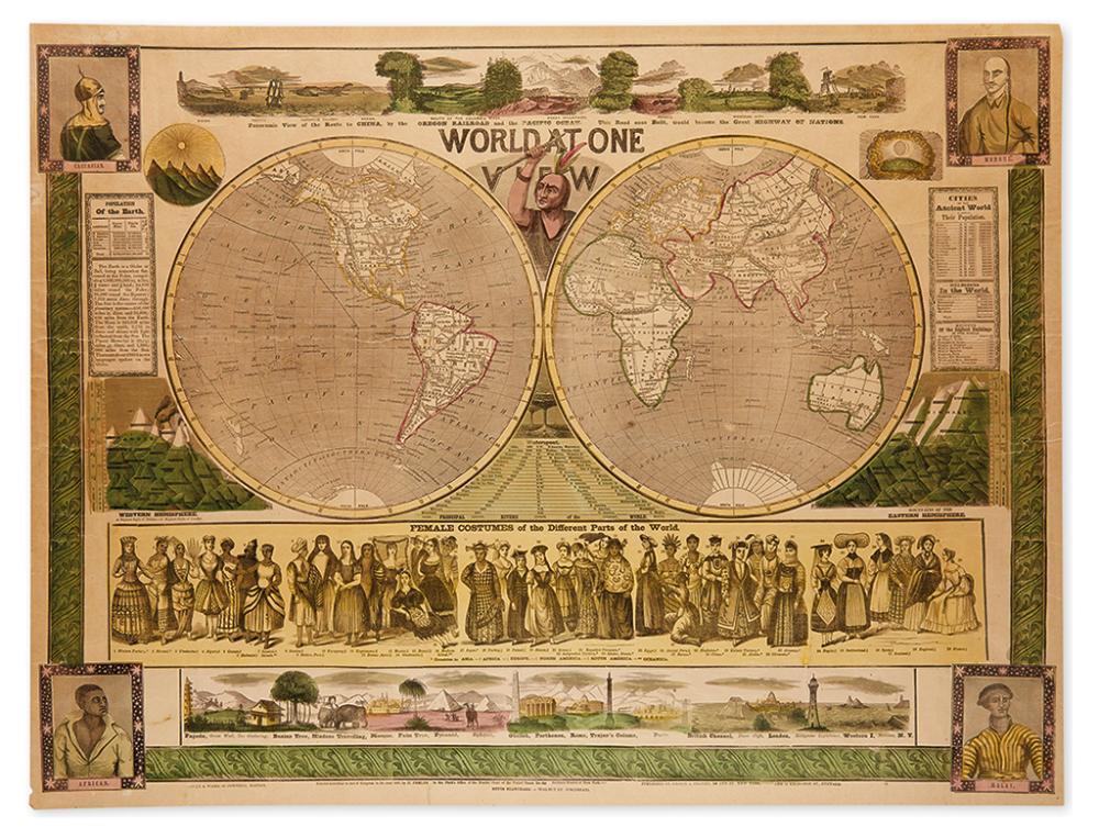 (WORLD.) Phelps, Humphrey. World at One View.