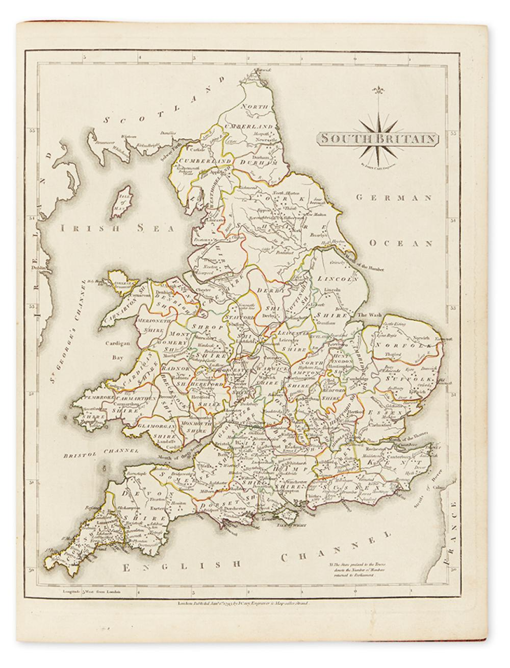 CARY, JOHN. New & Correct English Atlas: Being a New Set of County Maps from Actual Surveys.