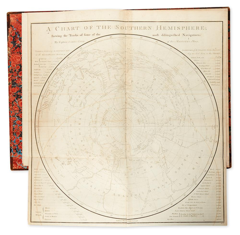 COOK, CAPTAIN JAMES. Single atlas volume from his: Voyage Towards the South Pole, and Round the World.