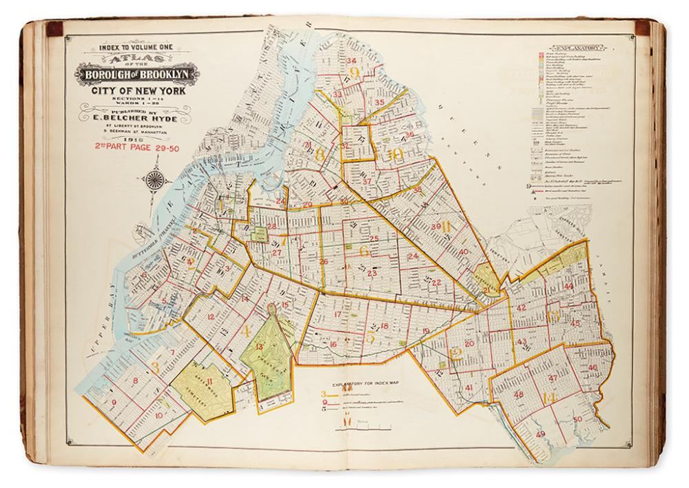 (NEW YORK CITY - BROOKLYN.) Hyde, E. Belcher. Atlas of the Borough of Brooklyn, City of New York.