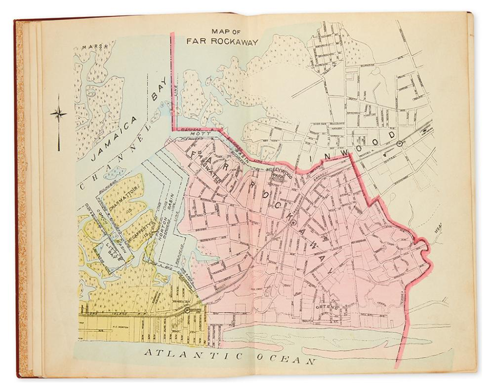 (NEW YORK CITY - QUEENS.) Hyde, E. Belcher. Miniature atlas of Far Rockaway and Rockaway Beach.