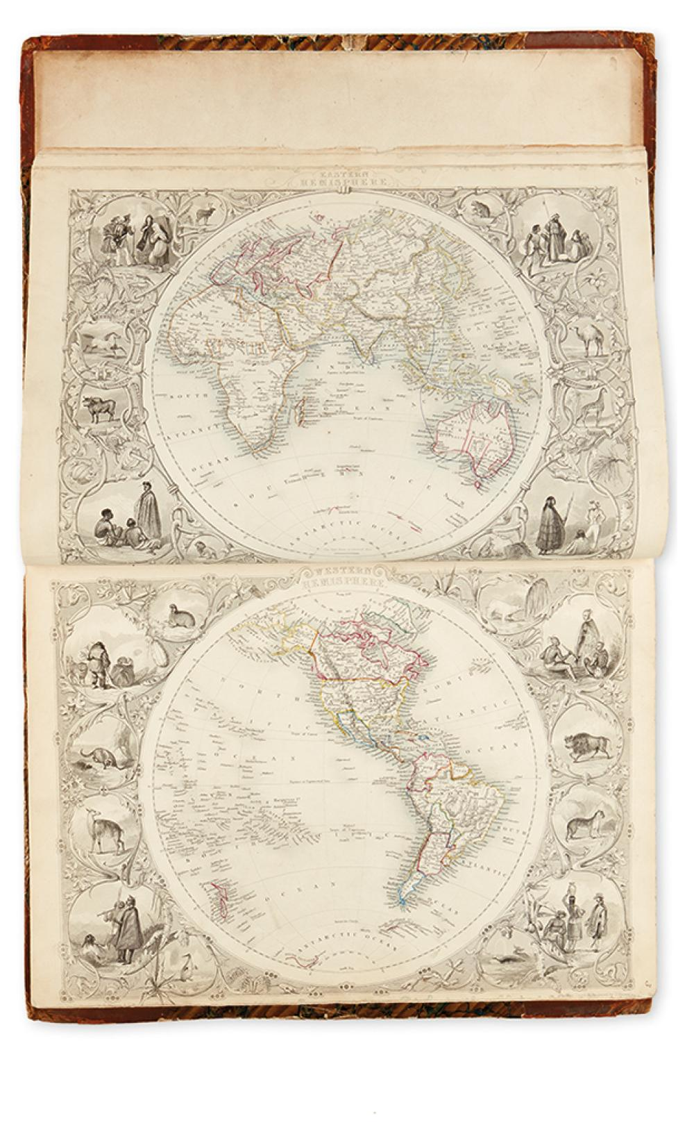 TALLIS, JOHN. The Illustrated Atlas and Modern History of the World, Geographical, Political, Commercial & Statistical.