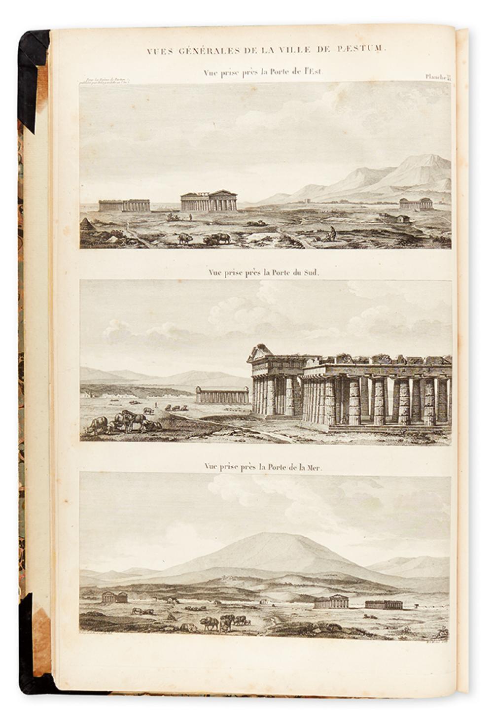 (ARCHITECTURE.) Delagardette, Claude Mathieu. Les Ruines de Paestum ou Posidonia.