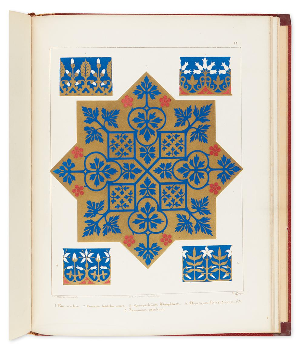 PUGIN, AUGUSTUS WELBY. Floriated Ornament: A Series of Thirty-One Designs.