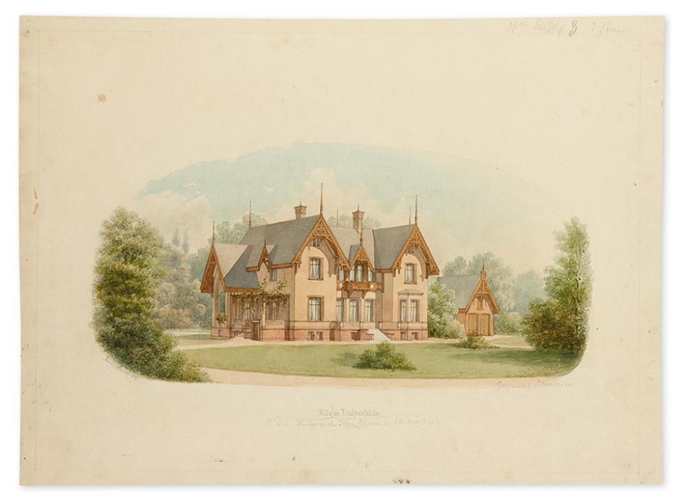 (BERLIN - ARCHITECTURE.) Schultz, Erwin. Villa des Herrn Baron v. Steinäcker in Lichterfelde.