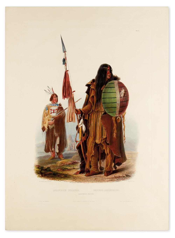 BODMER, KARL. Assiniboin Indians. Tab. 32.