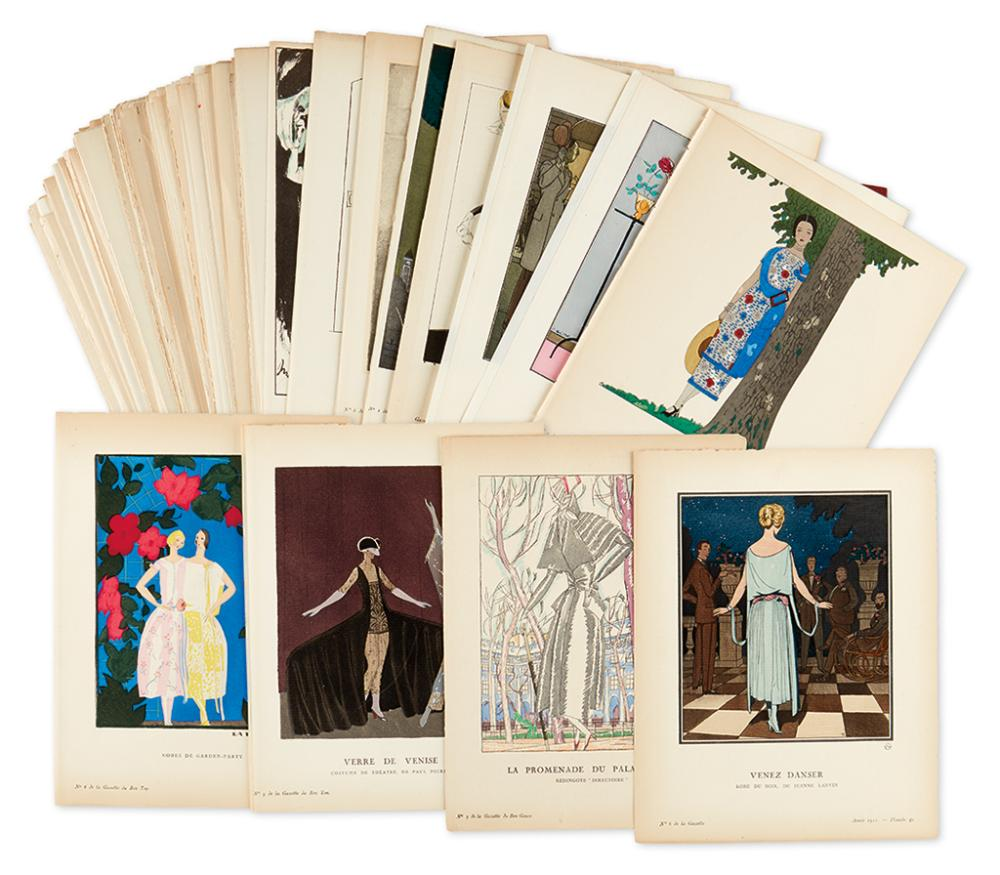 (COSTUME.) Gazette du Bon Ton. Group of approximately 200 plates from the magazine,